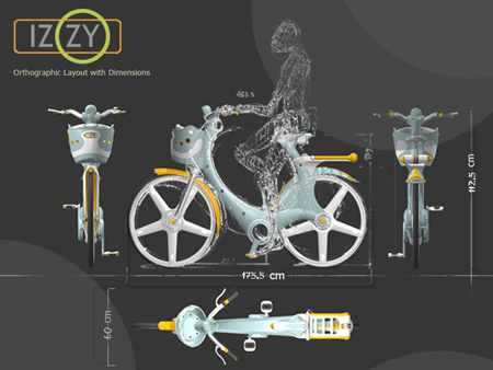 izzy plastic city bike for urban lifestyle