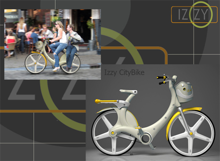 izzy plastic city bike