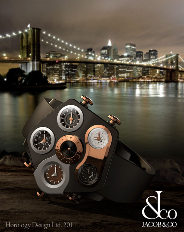 Jacob & Co five timezone collection by Horology Design