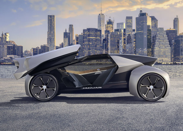 Futuristic Jaguar Land Rover Future-Type Concept Electric Car