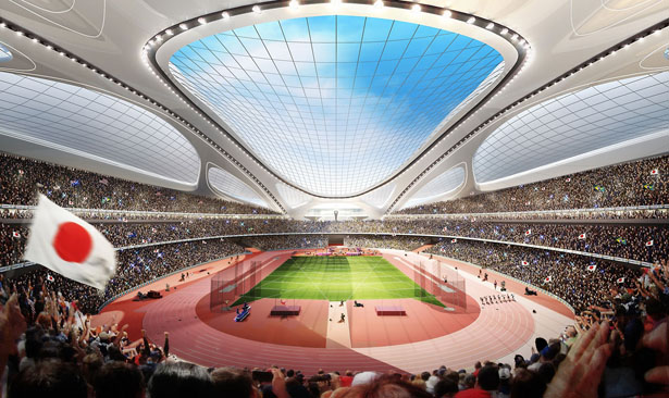 Japan National Stadium by Zaha Hadid Architects