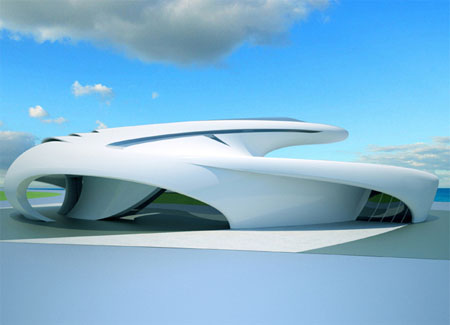 Futuristic Earth House by