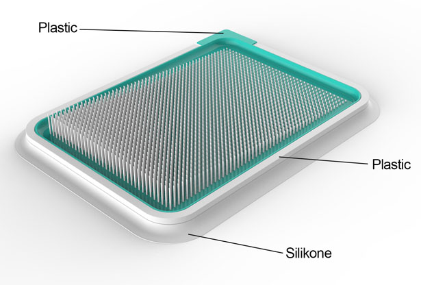 Jez : Vacuum Plastic Spread Board with Spikes by Snezana Jeremic