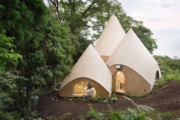 Jikka Teepee Shaped Buildings by Issei Suma