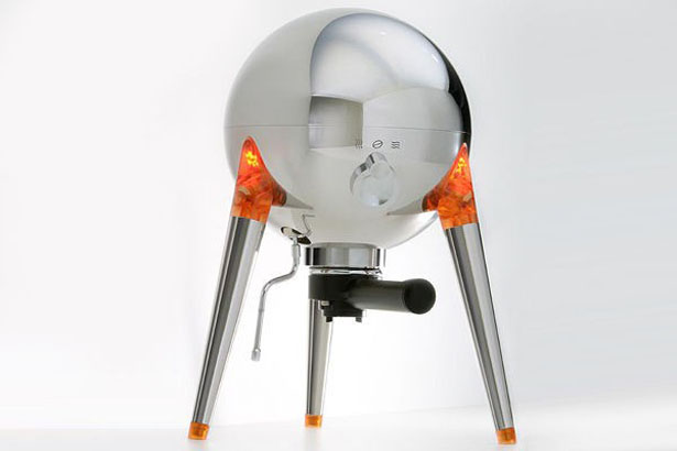 Jules Espresso Machine That Looks Vintage NASA Lunar Lander by CB Industries