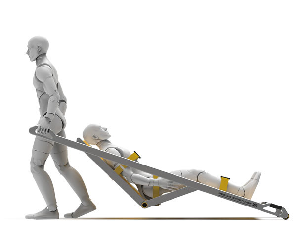 Just One: One-Person Operated Stretcher by Guo Xin, Qiu Qi, Wang Ning