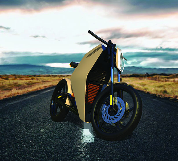 Kaishi Multi-Positional Electric Motorcycle Concept by Sean Cruickshank