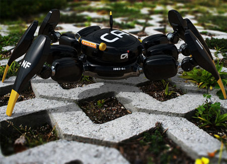 Kanibot Surveillance Robot Can Go Anywhere With Its Spider Like Design