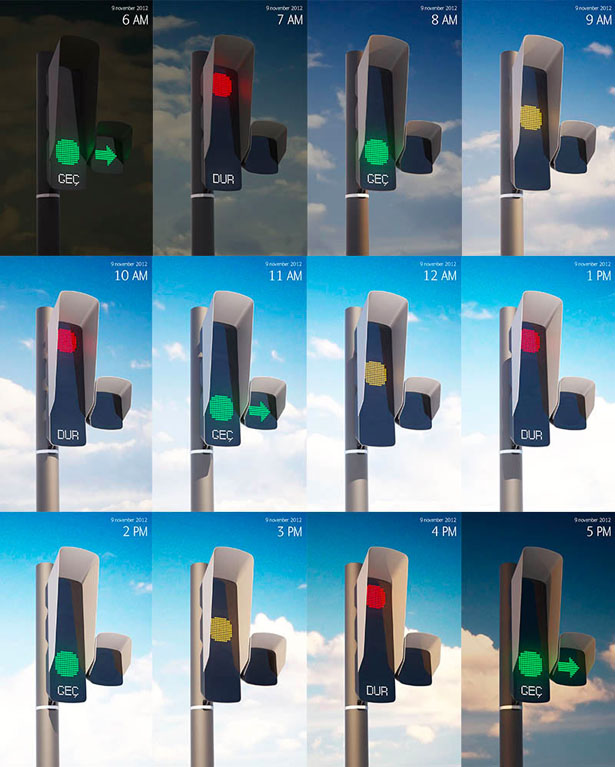 Kayserius Traffic Light by Art Lebedev Studio