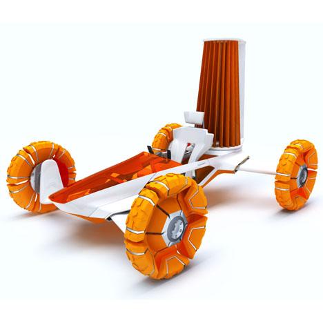 Kazaguruma Wind Force Futuristic Transportation