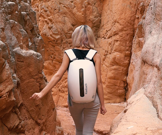 Keeback - Futuristic Multimedia Backpack by Steel Drake