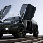 Compact KIA Niro Concept Car with Butterfly Doors