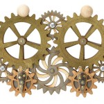 Kinetic Gear Key Holder Features Steampunk Inspired Style
