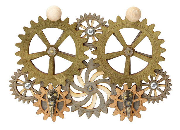 Kinetic Gear Key Holder by Lance Nybye Jr.
