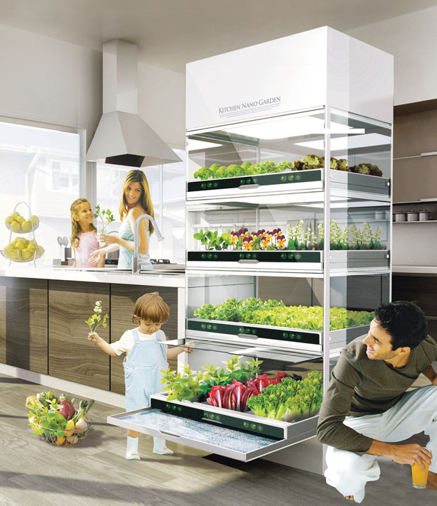 Kitchen Nano Garden Serves Excellent Way To Grow Your Own