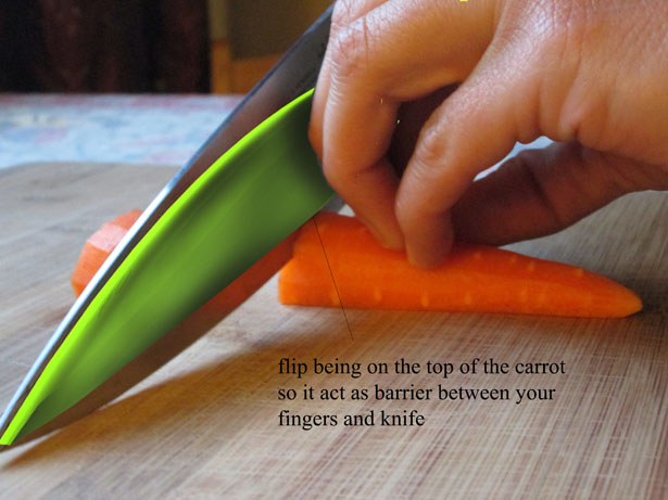 Knife Guard Protects Your Finger While Cutting