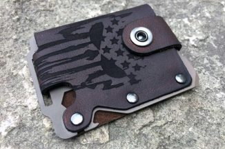 Kodiak Hero Minimalist Leather Wallet Comes With A Removable Multitool