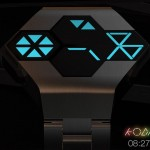 Futuristic Kodigy Watch with Hexagonal Watch Face