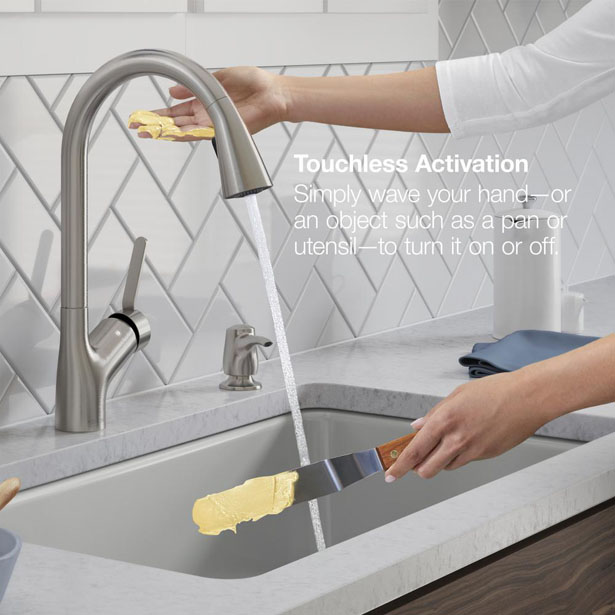 Kohler Setra Voice Activated Pull-Down Sprayer Kitchen Faucet