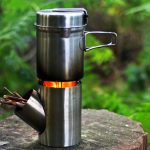 Kombuis Biofuel Camping Stove : A Compact Outdoor Cooking Set with 45-degree Angled Feeding Tube