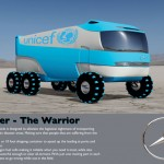 Krieger All-Terrain Vehicle For Transporting Relief-Supplies Into Disaster Area