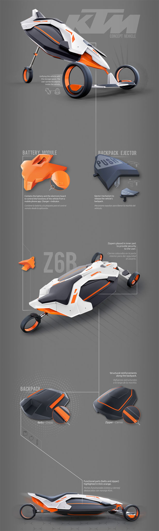 KTM Unipersonal Concept Vehicle by Manuel Frontini