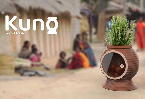Kuno Eco-Friendly Cooler Fridge by Kuan Weiking and Theodore Garvindeo Seah