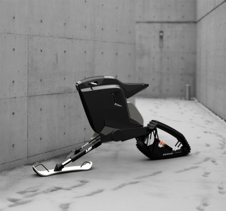 Kvant Motorbike : Combination of Motorcycle and Snowmobile