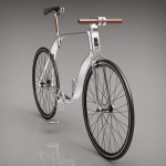 KZS Cycle Concept Bike Features Rectangular Flat Frame and Wooden Handlebar