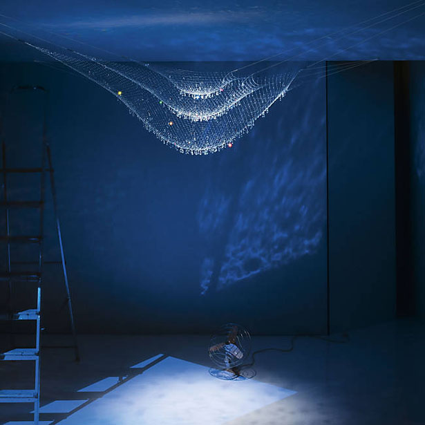 Lacrime Del Pescatore Ceiling Light Was Inspired by Fishermen's Nets