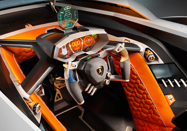 Lamborghini Egoista Concept Car HOMAGE FOR LAMBORGHINI'S 50TH ANNIVERSARY