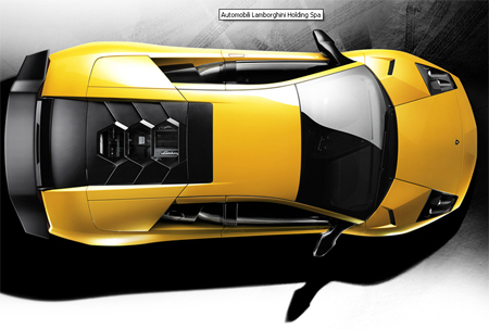 Sketches Lamborghini on Blueprint  Lamborghini Murcielago Roadster Lp640   Technical Drawings