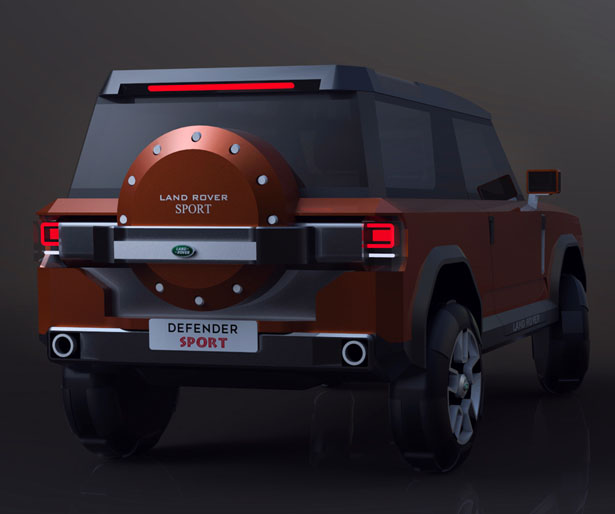Land Rover Defender Sport Concept Car by Giorgi Tedoradze