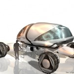 Futuristic Landstorm Concept Vehicle for The Year 2058
