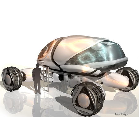 landstorm futuristic vehicle