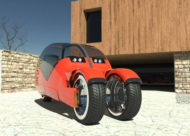 Lane Splitter Hybrid Car by Mark Wilson