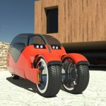 Lane Splitter : Futuristic Car that Splits Into Motorcycles