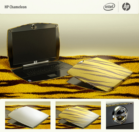 laptop hp chameleon concept