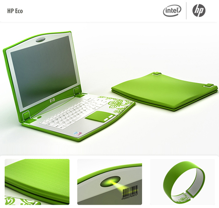 laptop hp eco concept