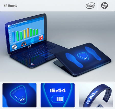 laptop hp fitness concept