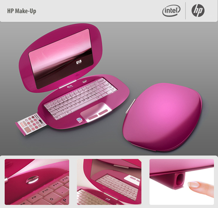 laptop hp make up concept