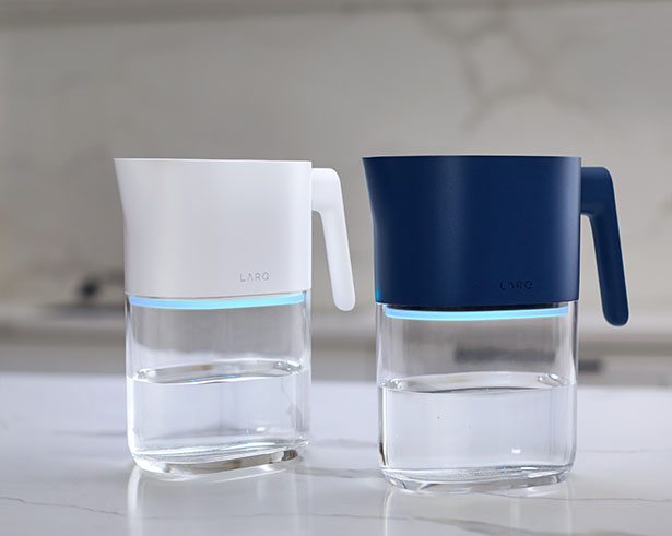 LARQ Pitcher Features Plant-Based Filter and UV-C Light Technology