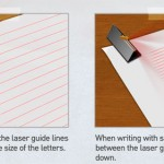 Laser Cap Creates Lined Paper Effect to Help You Witing in A Straight Line on Blank Paper