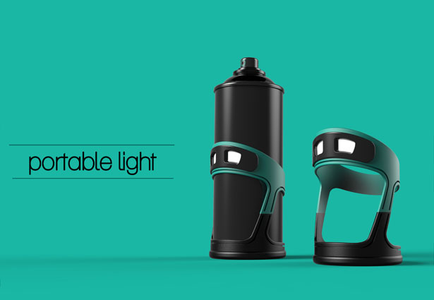 Lash Portable Light for Spray Can by Subinay Malhotra