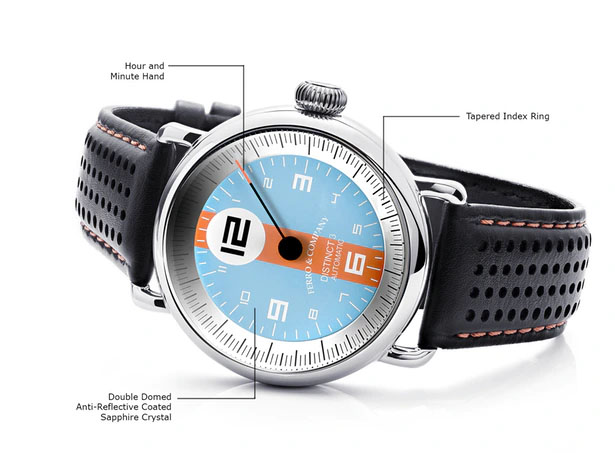 Ferro & Co. Distinct 3 Vintage Racing Style Watch Series - Le Mans Inspired Watch Design