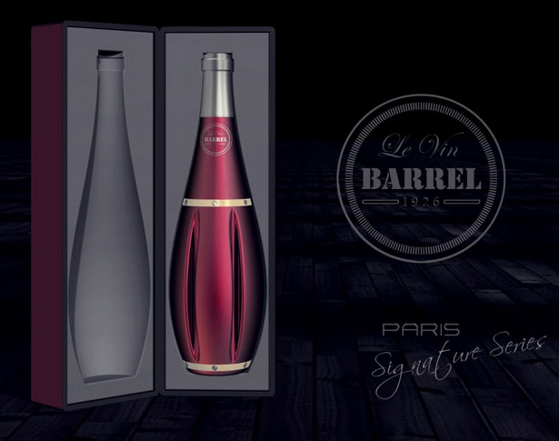 Le Vin Barrel Premium Wine Packaging Design by Tony Thomas Narikulam