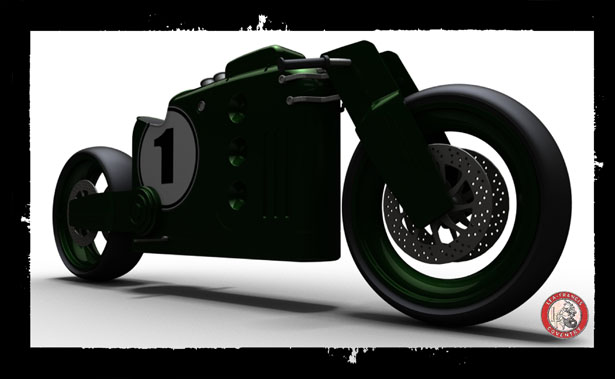 Lea-Francis Cafe Racer Motorcycle by John Bridge