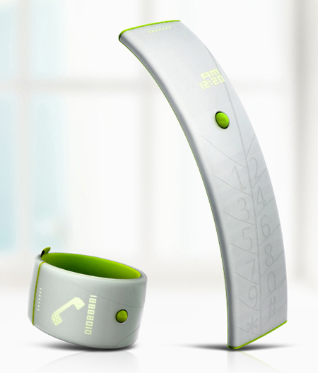 Leaf Phone with Eco-Charging Ability