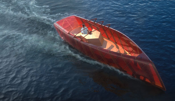 Leaf Pleasure Boat by Sitbon Architectes and Alessandro Comuzzi