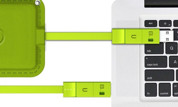 Lean Green Portable Power Machine - Ultra Thin External Battery by Tuvyah Schleifer
